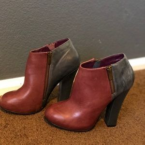 Shoemint Nancy two tone leather ankle boots